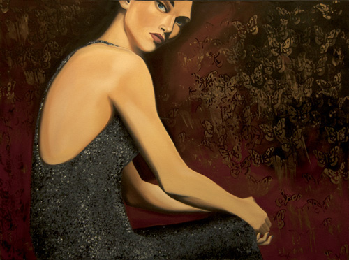 Contemporary Figurative Painting Local Houston Oil
